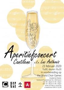 poster aperitiefconcert goedgered